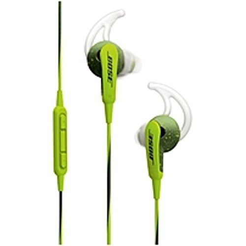 Bose SoundSport In-ear Headphones - Apple Devices - Stereo - Energy Green - Mini-phone - Wired - Earbud - Binaural - In-ear - 3.51 ft Cable