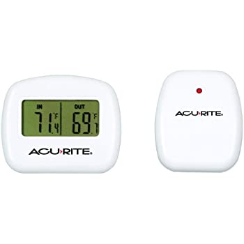 Amazon.com : AcuRite 00782A2 Wireless Indoor/Outdoor Thermometer ...