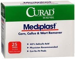 "Mediplast 40% Salicylic Acid Plaster, 2""x3"""