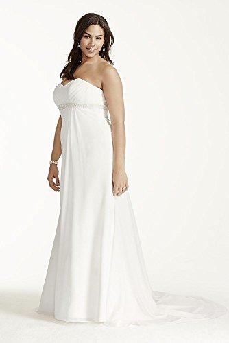 Échantillon: As-est Une Ligne De Taille Plus Robe De Mariée Avec Style Perles Ai13012874 Ivoire