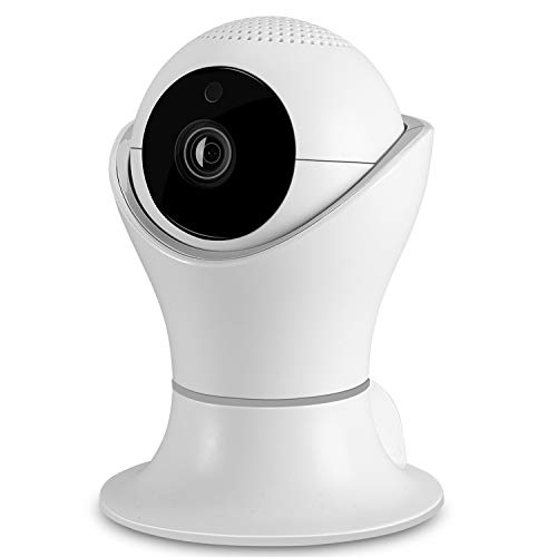 1080P Wireless Home Security IP Camera 360° Wifi Indoor Video Surveillance System Network Baby Monitor for Puppy Nanny Cloud Cam Night Vision Motion Detector Pan Tilt with 2 Way Audio ()