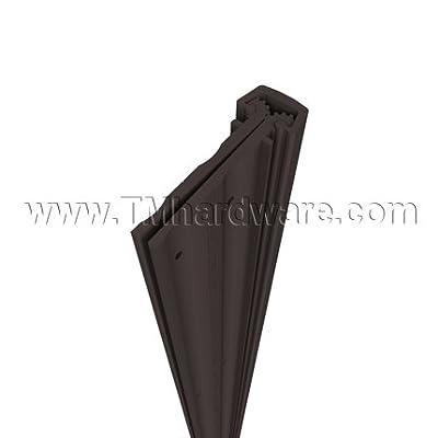 "Pemko Heavy Duty Full Mortise Short Leaf Flush Hinge, Dark Bronze Anodized Aluminum, 83"" L"