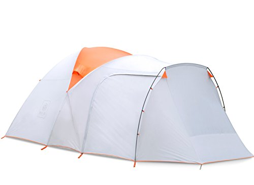 Backcountry Tent (EXIO 6-Person Compact Backcountry Tent, 20D Breathable Ripstop Nylon Tent and Rainfly with PU2000 Silicone Coating, Aluminum Poles, Footprint Included)