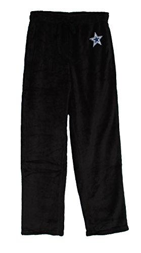 Dallas Cowboys Adult Small Plush Pajamas Black Sleep Pants - Sleepwear - Mens Dallas Cowboy Pajama Pants