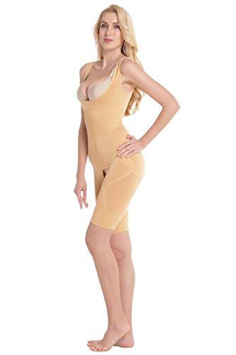 Aibrou Womens Seamless Shapewear Slimming Bodysuit Open Bust Body Shaper