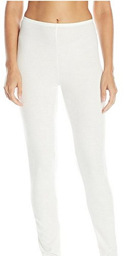 Cuddl Duds Women's Softwear with Stretch Legging, Ivory, XS