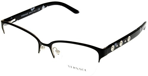 Versace Womens Eyeglasses Designer Silver Semi Rimless VE1224 - Versace Glasses Rimless