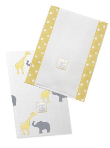 SwaddleDesigns Burpies Cotton Cloths Yellow