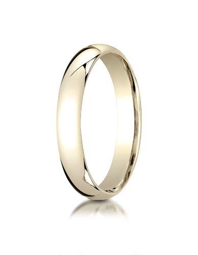 Mens-14K-Yellow-Gold-4mm-Slim-Profile-Comfort-Fit-Ring