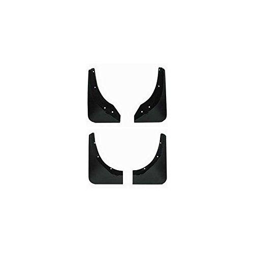 - Eckler's Premier Quality Products 25171378 Corvette Splash Guards Body Contoured Front & Rear MatteBlack Altec