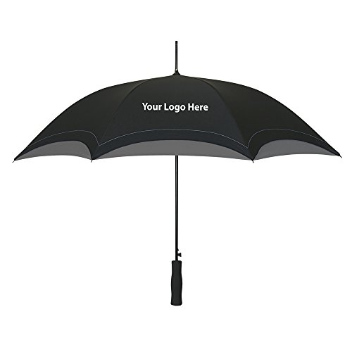 """46"""" Arc Accent Umbrella - 25 Quantity - $11.95 Each - Promotional Product/Bulk with Your Logo/Customized"""