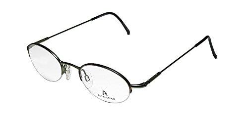 Rodenstock R4262 Mens/Womens Designer Half-rim Spring Hinges Eyeglasses/Eyeglass Frame (47-20-140, Havana / - Frames Rodenstock Eyeglass