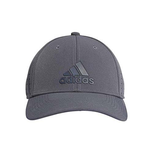 (adidas Men's Gameday Stretch Fit Structured Cap, Onix, Small/Medium)