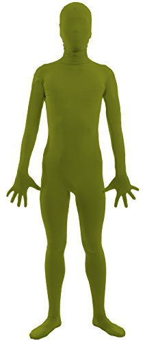 VSVO Adult 2nd Skin Full Body Zentai Supersuit Costumes (Small, Army Green)