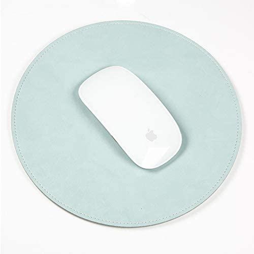 New Bluetooth Wireless Mouse Keyboard Mouse Microfiber Crazy Horse Texture Circular Waterproof Mouse Pad Black Color : Mint Green
