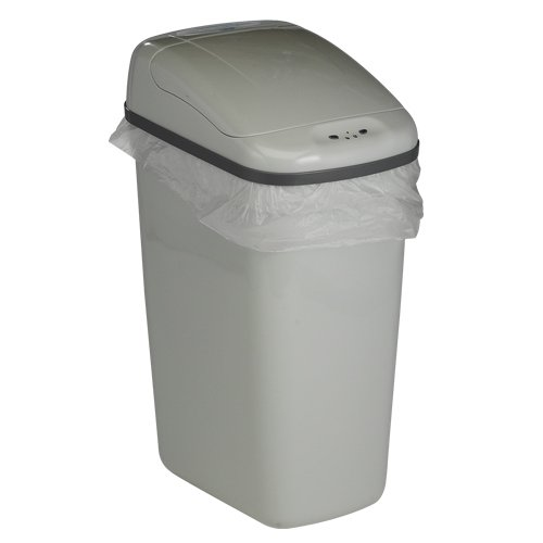 Bel-Art Touch Free 7.3 Gallon Automatic Waste Can with Gray Lid (F13202-0020)