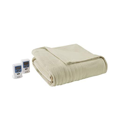 Ribbed Microfleece Heated Blanket - King Size
