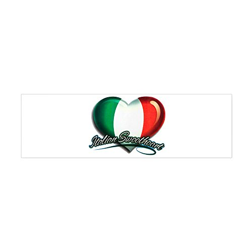(20 x 6 Wall Vinyl Sticker Italian Sweetheart Italy Flag)