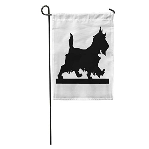 Nick Thoreaufhed Garden Flag Scotland Scottie Dog Silhouette Retro Clip Vintage 1940 1950 40S Home Yard House Decor Barnner Outdoor Stand 12x18 Inches Flag