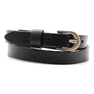 Wholesale Xusamss Fashion Alloy Buckle Leather Belt Wristhand Bracelet Bangle,7.0-8.0inches