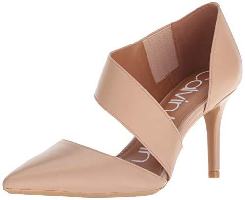 - Calvin Klein Women's Gella Dress Pump, Desert sand leather, 8 M US