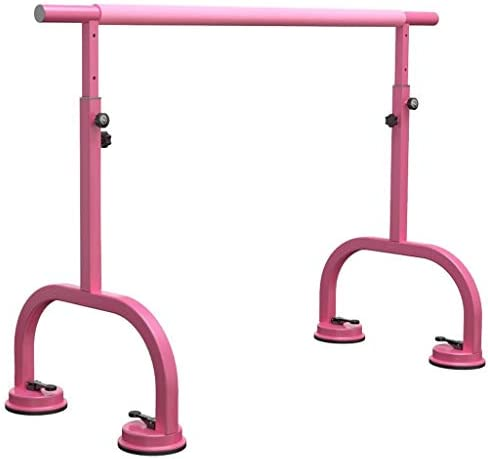 バレエバー バレエスタンド バレエ ダンス用バー バレエバレバー、ポータブル、高さ調節可能な大人の子供のための吸盤タイプ家庭用ダンスバー、自立、 - ピンク Ballet Barre bar