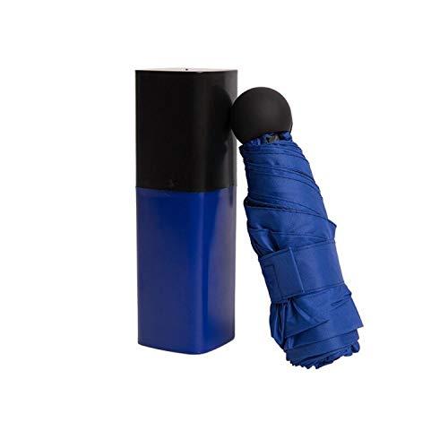 Josephine Samuel Mini Pocket Folding Umbrella for Women Anti-UV Sunscreen Creative Lipstick Waterproof Dual-use Sunny and Rain Umbrellas ()