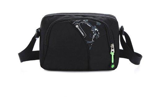 Travel Shoulder Bag Outdoor Cycling Crossbody Bags Messenger Bag (Black Jersey Messenger Bag)