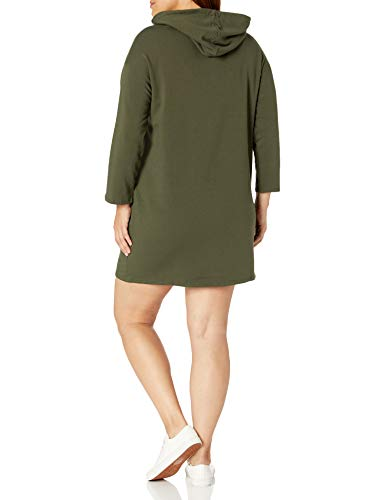 Amazon Brand - Daily Ritual Women's Plus Size Terry Cotton and Modal Bracelet-Sleeve Sweatshirt Dress