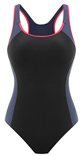 Diamondback Black Swimsuit - DANIFY Womens Backless Splice One Piece Swimsuit Sports Swimwear, 1-black, US10
