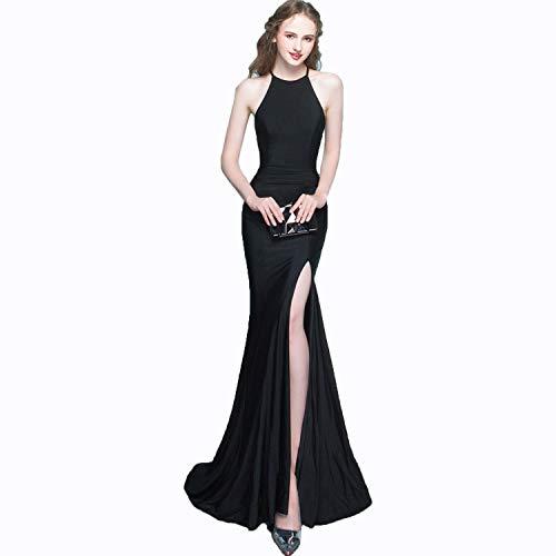 Cjjc Redondo Fiesta Cuello Mujer Multi Moda Sirena De Vestido Black Noche Con Opcional Ajustado Largo Y Vestidos Para Redondo Color zxqwrzfAZ