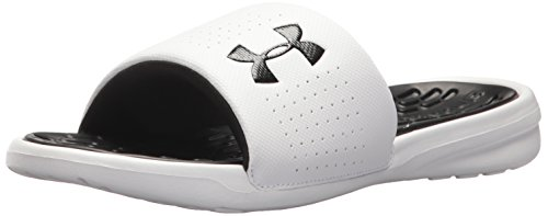 Under Armour Men's Ua M Playmaker Fix Sl Beach and Pool Shoes White fLv1Coh