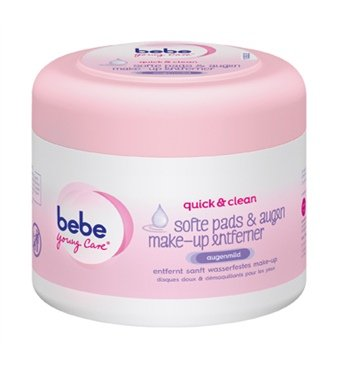 Young Care (Bebe Young Care Moist Waterproof Make-up removing pads -30 Ct.)
