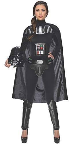 (Rubie's Star Wars Darth Vader Woman's Deluxe Costume Jumpsuit, Multicolor, Small)