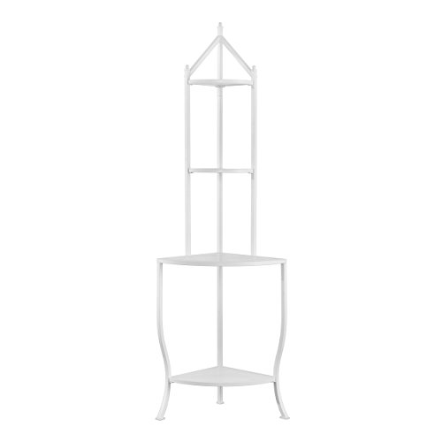Furniture HotSpot Corner Bakers Rack - White - 25.5'' W x 18'' D x 76'' H by Furniture HotSpot (Image #1)
