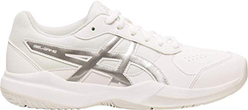 ASICS Gel-Game 7 GS Kid's Tennis Shoe, White/Silver, 3 M US Little Kid - Kids Volleyball Shoes