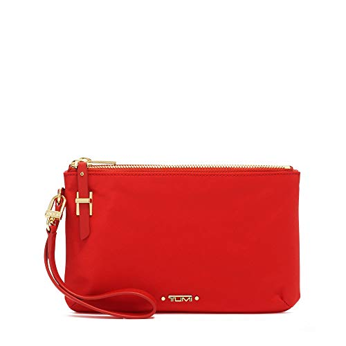TUMI – Voyageur Abilene Double Zip Pouch – Clutch Wristlet Wallet for Women – Sunset