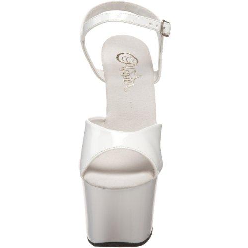 Pleaser Women's White Sky Sandal Platform 309 White Patent 44rqR