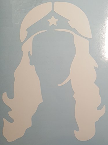 Profile Silhouette (Wonder Woman Silhouette Head Profile (large) White Car, Truck, Auto, Cubicle or Locker Decal)
