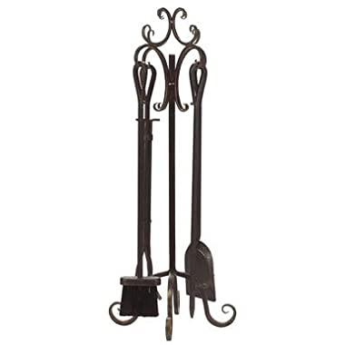 Panacea 5-Piece Scroll Top Fireplace Tool Set