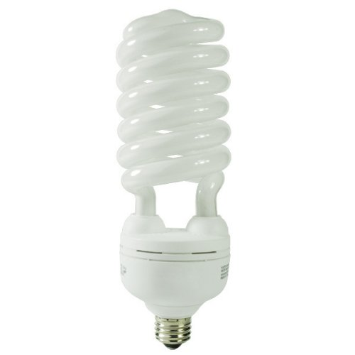 55 Watt CFL Light Bulb - Compact Fluorescent - 250 W Equal - 2700K Warm White - 80 CRI - 65 Lumens per Watt - GCP 040 (Cfl 55w)