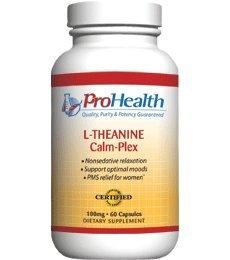 La L-théanine Calme-Plex avec le GABA et le 5-HTP (Suntheanine ®) (100 mg, 60 capsules de taille moyenne)