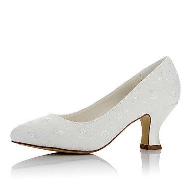4 Unido2 US8 5 5 Chunky Ue34 3 Noche 5 Invierno Shoes RTRY Marfil Reino Talón Satin Comodidad Wedding Las Boda 2 Confort Mujeres'S amp;Amp; Us4 Marfil 4De UK6 5 CN40 Otoño 2A 2 Cn33 EU39 CwpqA1x4w