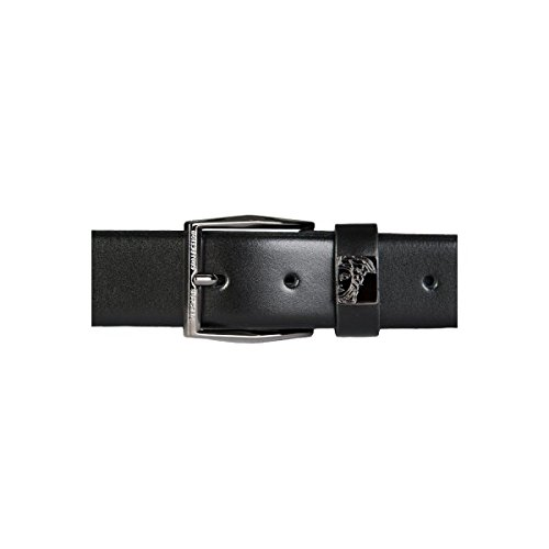 Versace Collection Italy Men's Black Leather Medusa Logo Buckle Belt Gift Box 89 - Bag Versace Medusa