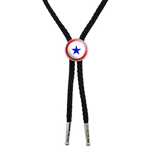 Blue Star Flag - One 1 War Mother Service Western Southwest Cowboy Necktie Bow Bolo Tie
