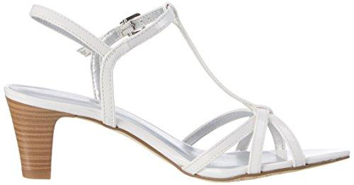 Tamaris 28329 , Sandalias con Tira a T para Mujer Blanco (White Patent 123)