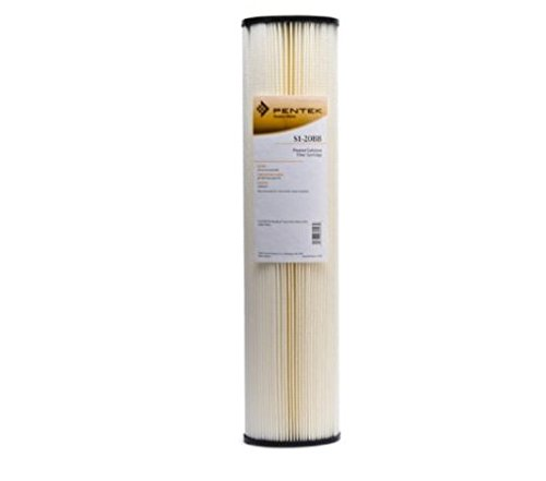6 pk Pentek Pentair 155305-43 S1-20BB Pleated Cellulose Sediment Water Filter Cartridge 20 Micron 20''x4-1/2'' by Pentek