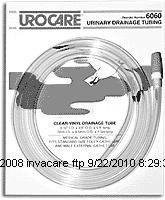 Urocare Clear Vinyl & White Rubber Drainage & Extension Tubing-Length: 10' (3 m) Inner Diameter: 5/16