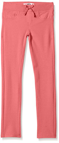 Girls Drawstring Waist Terry Cloth - LEE Girls' Big Knit Waist Skinny Pull On Pant, Coral, 12