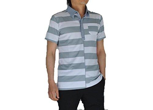 PUMA(プーマ) ゴルフS/Sワイドボーダーポロ メンズ ポロシャツ(半袖) トレードウィンズ×ホワイト 903470-04 Sサイズ